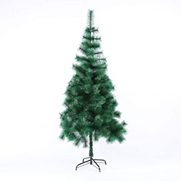 Pvc Christmas Trees.Amazon Com Zt Zy Green Hinged Artificial Christmas Pine
