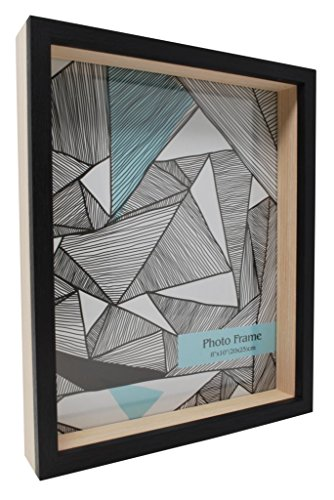 8.75x10.75 Recessed 3D Box Picture Frame-Made to Fit 8x10 inch Photo -Freestanding or Wall Mount