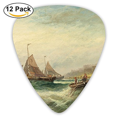 Guitar Picks A Fishing Boat In The Sea Medium Customized Complete Assorted 12 Pack
