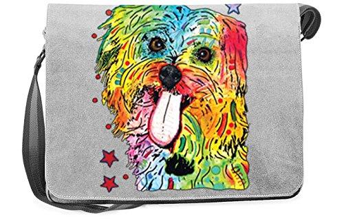 Pop Art Canvas ::: Shih Tzu ::: peppige Umhängtasche mit Art Style Hunde Motiv oSa7FJ5Si