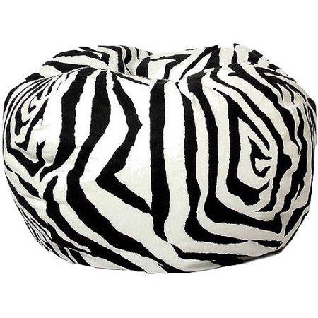 Classic Garbadine Bean Bag, Zebra