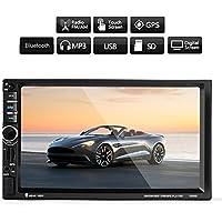 ExGizmo 7 HD Car Bluetooth GPS Navigation Stereo Radio 2 DIN FM/MP5/MP3/AUX + Camera+ remote control