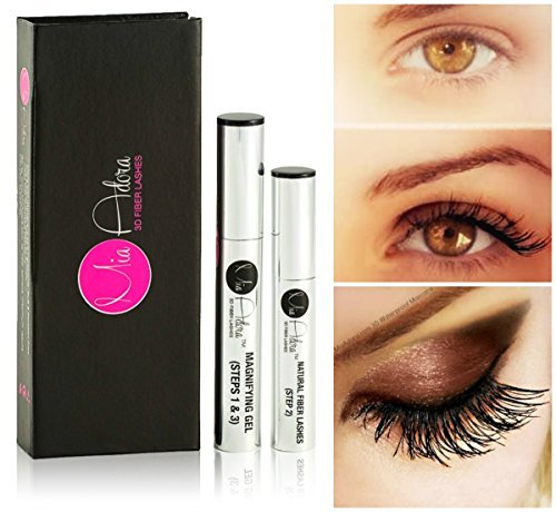 3D Fiber Lash Mascara by Mia Adora – Premium Formula with Highest Quality Natural & Non-Toxic Hypoallergenic Ingredients – FREE Bonus Eyelash ebook with Pro-Tips Included