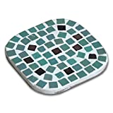Mosaic Craft Kit,a pair of Coaster, Dark turquoise