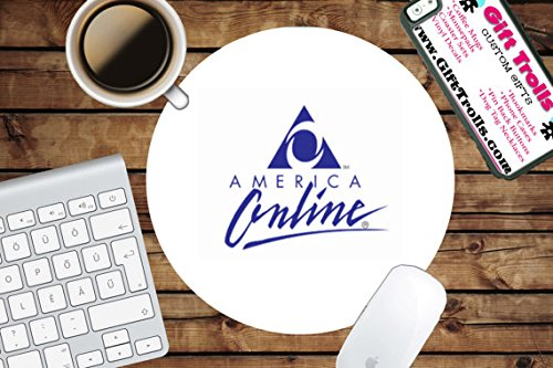 Aol America Online Circle Mouse Pad   Mousepad   Coworker Teacher Gift   Pc   Internet   Logo   Funny