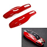 iJDMTOY (1) Exact Fit Gloss Metallic Red Smart Remote Key Fob Shell For Porsche Cayenne Panamera Macan 911, etc