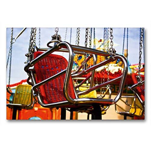 CALVENDO Toile de qualité supérieure - Motif carrousel - 90 x 60 cm - Toile imprimée sur châssis - Impression sur Toile véritable Spass