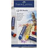 Giz Pastel Oleoso Goldfaber 12 Cores, Faber-Castell