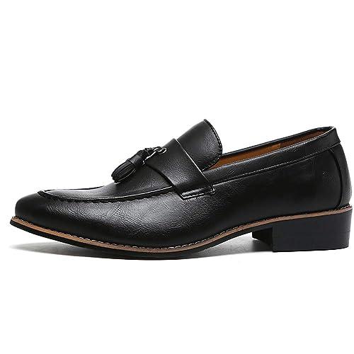 Zapatos de Hombre Moda Casual para Adultos Vestir Vestir Social Zapatos Formales Hombres Mocasines: Amazon.es: Zapatos y complementos