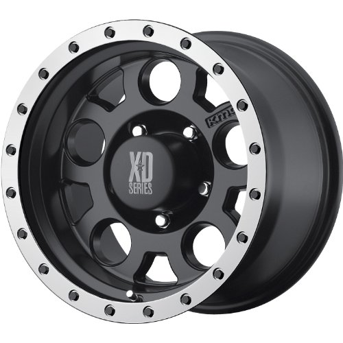 """XD-Series 125 Matte Black Wheel with Machined Bead Ring (18x9""""/5x127mm)"""