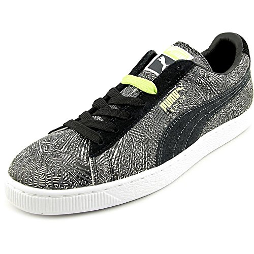 Puma Suede Mis-match Round Toe Suede Sneakers Dark Shadow/Black/White clearance limited edition YqMS1F