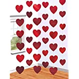 Amscan Blushing Valentine's Day Candy Heart String Party Decoration, Multicolor, 7', 6 strands