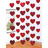 #7: Amscan Blushing Valentine's Day Candy Heart String Party Decoration, Multicolor, 7', 6 strands