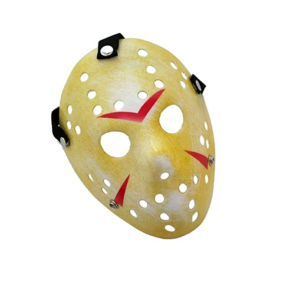 WSLG Horror Killer Máscara Oro De La Vendimia Jason Voorhees Freddy Hockey Festival Partido De La Mascarada De Halloween,Gold: Amazon.es: Deportes y aire ...