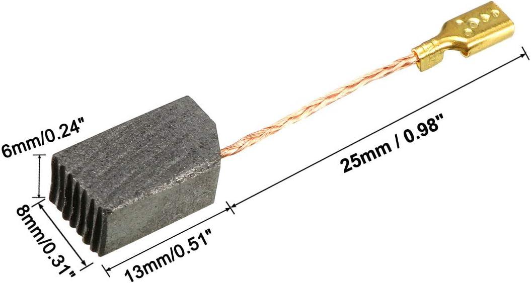 Sourcingmap Balais de charbon pour moteurs /électriques 14/mm x 8/mm x 5/mm de remplacement de r/éparation suppl/émentaire Lot de 2