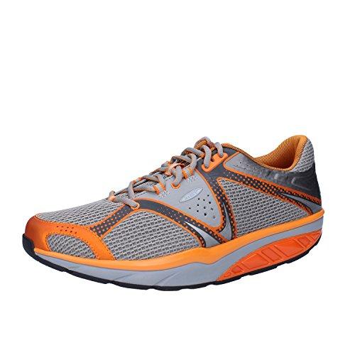 MBT Sneakers Hombre Textil (42 EU, Gris/Naranja)