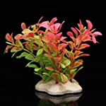 Pink Green Artificial Water Plants fo...