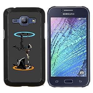 "For Samsung Galaxy J1 J100 , S-type Portal gota"" - Arte & diseño plástico duro Fundas Cover Cubre Hard Case Cover"