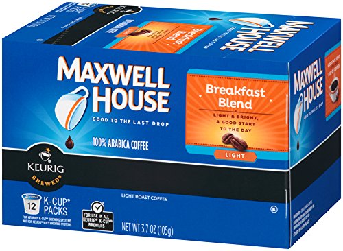 Maxwell House Breakfast Blend K-CUP Pods ,12 count (Pack of 6)