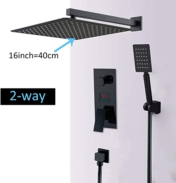 FYMIJJ Ducha Juego de grifos de ducha con pantalla digital LED ...