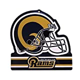 Party Animal Los Angeles Rams Embossed Metal NFL Helmet Sign, 8'' x 8''