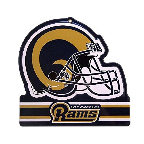 """Party Animal Los Angeles Rams Embossed Metal NFL Helmet Sign, 8"""" x 8"""""""