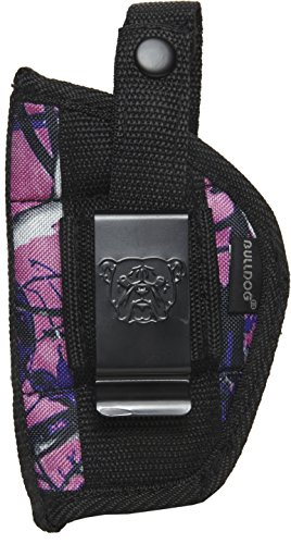 Bulldog Cases Extreme Muddy Girl Belt and Clip Ambi Holster Fits Small Frame Revolvers with 2-2 1/2-Inch Barrels (S&W J Frame), Camo/Black