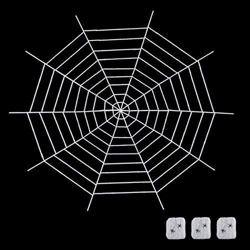 Hautoco - Juego de cama gigante para Halloween, 30 m y súper elástica, con falsos arañas, decoración para interiores y...