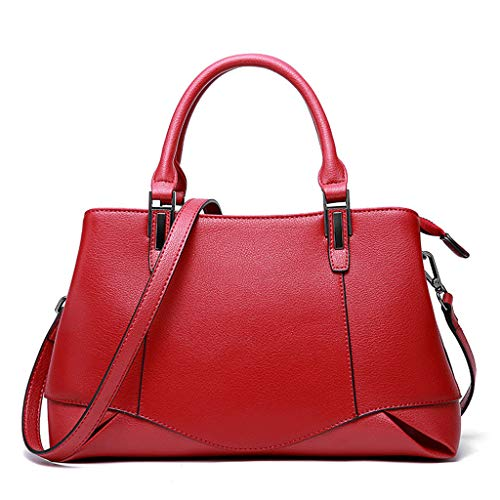 mode main femme PU à sac bandoulière en multicolore coréenne de Sac Messenger à Red option Bag nwaAC4qxg