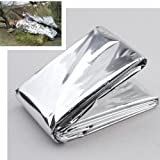 SODIAL(R) Foil Survival Rescue Emergency Blanket Waterproof Silver