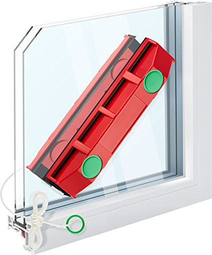 The Glider D-3, Magnetic Window Cleaner for Double Glazed Windows, up to 1-1/8 inch/28mm thickness. (Washer Window)