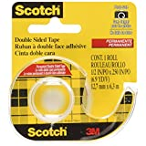 Scotch Double Sided Tape, 12.7mm x 6.3m, 1 Roll, (136NA)