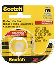 Scotch Tape Double Sided Tape, 12.7mm Wide x 6.3m, 1 Roll in Dispenser