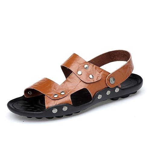 Zapatos de los Hombres de Cuero Primavera Verano Soles Ligeros ...