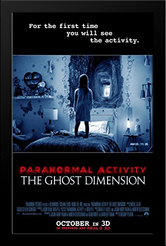 Paranormal Activity: The Ghost Dimension 28x38 Large Black Wood Framed Movie Poster Art Print by ArtDirect
