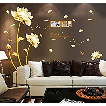 Ufengke® Beautiful Peony Flowers Butterflies Photo Frame Wall Decals, Living  Room Bedroom Removable Wall Part 25