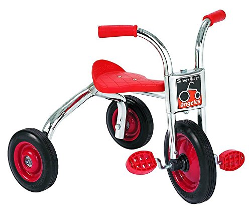Angeles SilverRider 10″ Pedal Pusher LT Bike for Kids Tricycle (26 x 22 x 22 in) ()