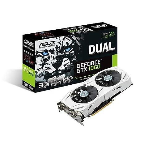 ASUS DUAL-GTX1060-3G - Tarjeta gráfica (Dual, NVIDIA GeForce GTX ...