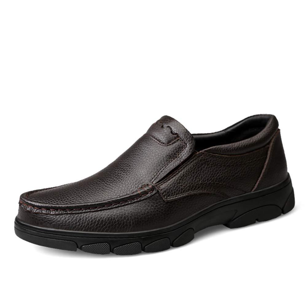 Xujw-schuhe, 2018 Schuhe Herren Herrenmode Oxford Oxford Oxford beiläufige einfache niedrige Spitze Beleg auf runde Zehe Formale Schuhe für Männer (Farbe   Braun, Größe   38 EU) 80df38