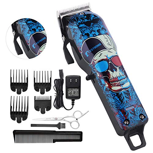 Professional Cordless Hair Clippers Beard Trimmer For Men Kids Professional Wireless Hair Cutting Kit Set with Taper Lever