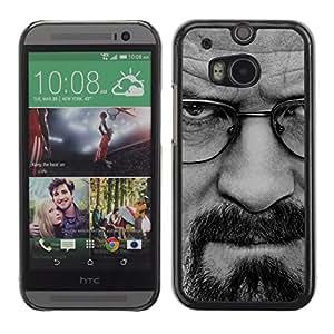 HTC One M8 , Radio-Star - Cáscara Funda Case Caso De Plástico (Breaking Meth - Walter W)