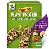 PowerBar Plant Protein Bar, Dark Chocolate Salted Caramel Cashew, 1.76 oz Bar, (15 Count) For Sale