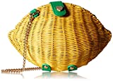 Betsey Johnson Don't Be Tarty Yellow Straw Lemon Crossbody