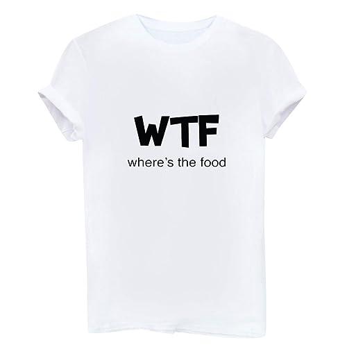 Camisetas Anchas Mujer Hombres Camisas Para Damas Camisa Manga Corta Camiseta Señora Camisetas de Ve...