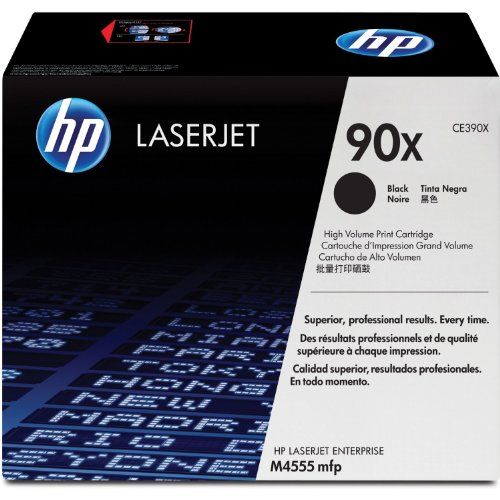 HP CE390X 90X High Yield Black Original Toner Cartridge for LaserJet Enterprise M4555 600 - 24,000 Pages
