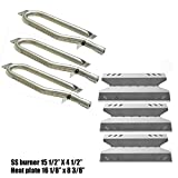 Gas Grill Repair Kit SS Burner, Stainless Steel Heat Plate Parts -3pack Replacement For Members Mark BQ05046-6, BBQ Pro, Sam's Club, Outdoor Gourmet