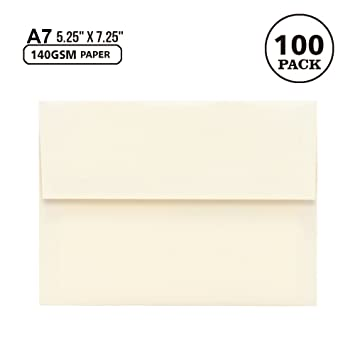 amazon com a7 off white invitation 5x7 envelopes self seal
