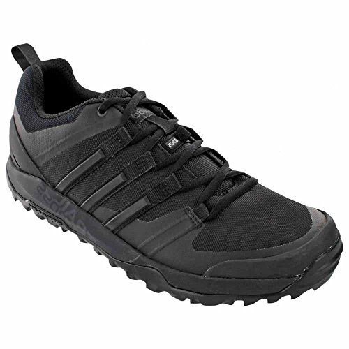 Bike Shoes Black Adidas (adidas outdoor Terrex Trail Cross SL Running Shoe - Men's Dark Grey/Black/Mgh Solid Grey 7)