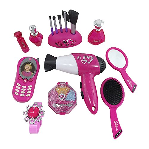 Cute Stylish Girl Toy Beauty Set, Battery Operated Realistic Hair Dryer