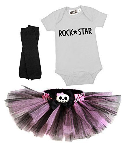 Bubblegum Punk Princess 3 Piece Tutu Costume Set 18 Months